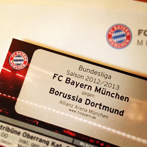 Damit ist der 1. Dezember verplant, @FCBayern gegen @BVB #Tickets