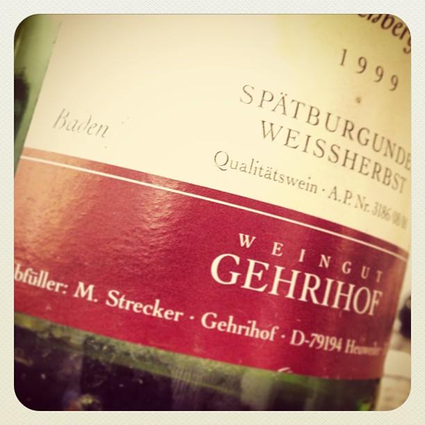 1999 Spätburgunder Weißherbst - kann man sogar noch trinken  #keller #ausmisten