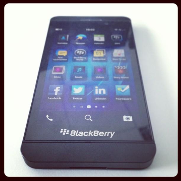 #Blackberry #Z10 Testgerät bekommen - erster Eindruck: i woas ned...