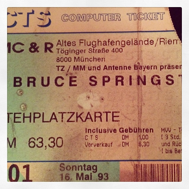 Mein erstes Konzert 16. Mai 1993 #Springsteen