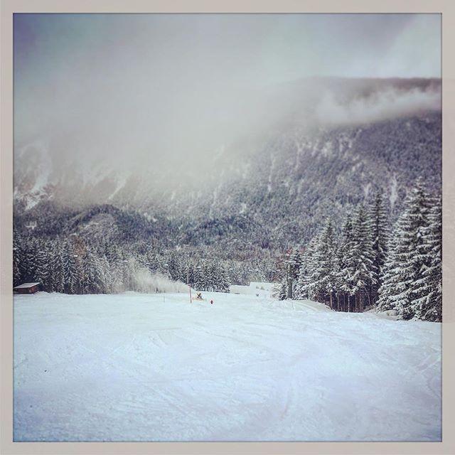 Wir und die zwei Großen hatten einen sehr schönen Tag im #schnee #biberwier #ski