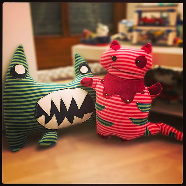 #Monster Kissen - Designed by K1&K2 and made with help from their Grandma