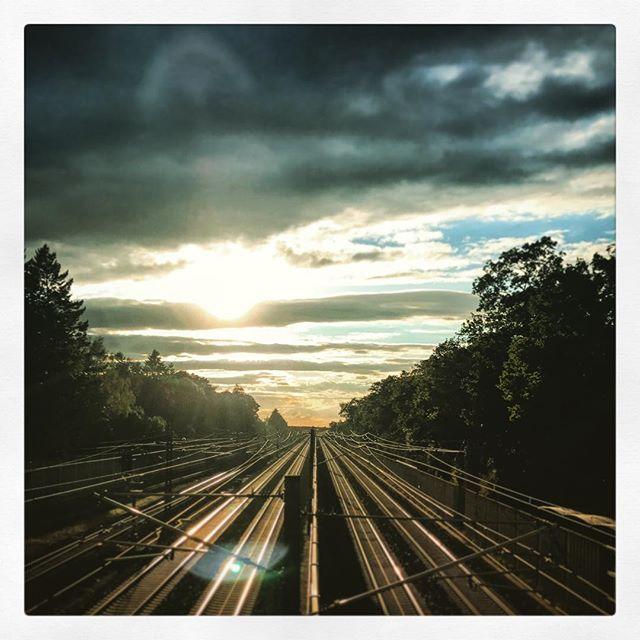 Die letzten #Sonnenstrahlen für heute #Gernlinden #Maisach