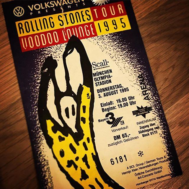Bei meinem ersten @therollingstones Konzert 1995 hat die Karte noch DM 65.- gekostet... #RollingStones #VoodooLoungeTour
