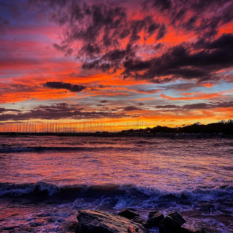 Fantastic #sunset in Marina Di #Cecina #Tuscany